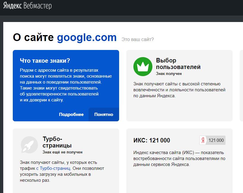 ИКС Google и ИКС Яндекс